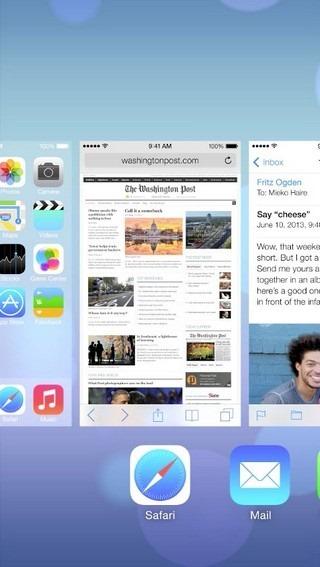 Multitasking iOS Cards