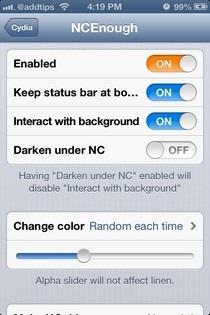 NCEnough iOS Settings