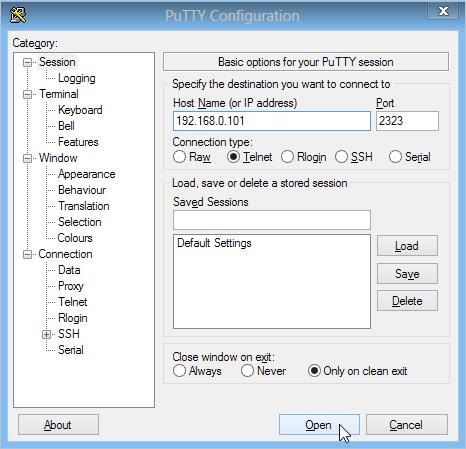 PuTTY Configuration