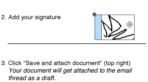 Resize your signature and move it around