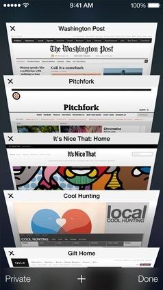 Safari iOS 7