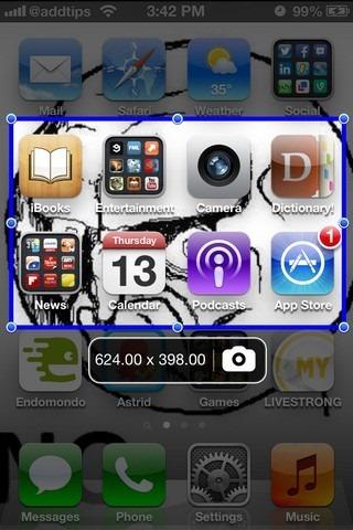 ScreenshotPlus iOS SpringBoard