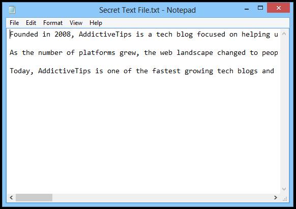 Secret Text File