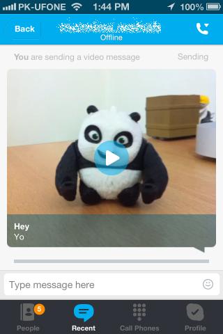 Skype sending