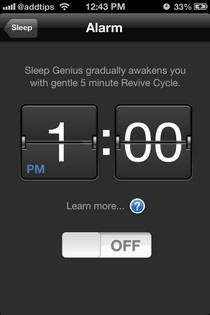 Sleep Genius iOS Alarm