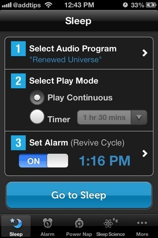 Sleep Genius iOS Home