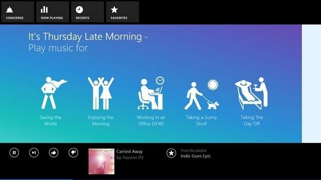 Songza Windows 8 Music