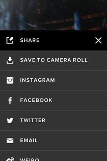 VSCO Cam iOS Share