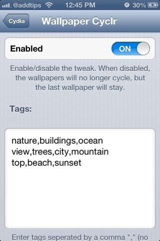 Wallpaper Cyclr iOS Tags