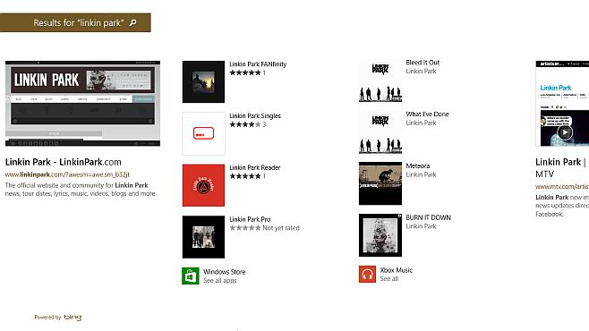 Windows 8.1 Smart Search – LP Results 2