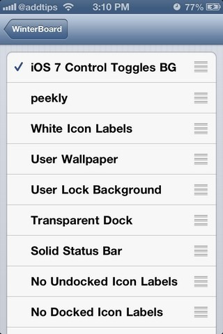 iOS 7 Control Toggle Icons Winterboard