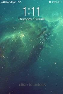 iOS 7 Lockscreen Theme