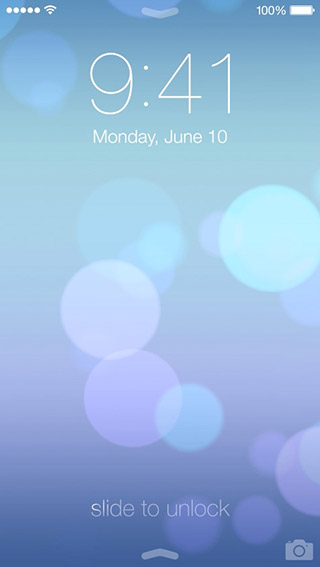 iOS 7 Lockscreen