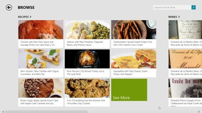 search recipe food and drink