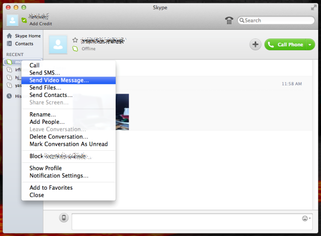 send video message