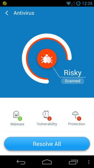 360 Mobile SecurityResults