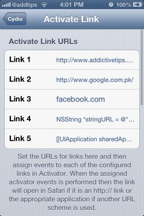 Activate Link iOS