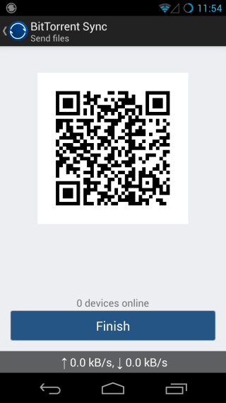 BitTorrent Sync_Send QR
