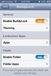 BuddyLock iOS Settings