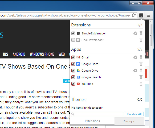 Extension-manager-Chrome