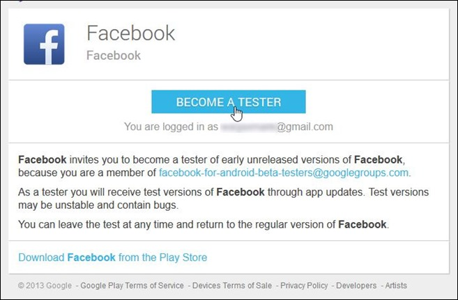 Facebook Beta Testing Program_Step 2