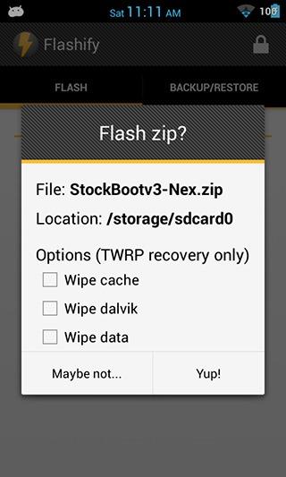 Flashify-flashing-ZIP-file