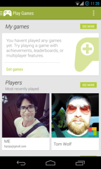 Google Play Games - Home 1