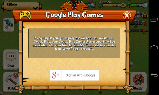 Google Play Games - In Game - Connect
