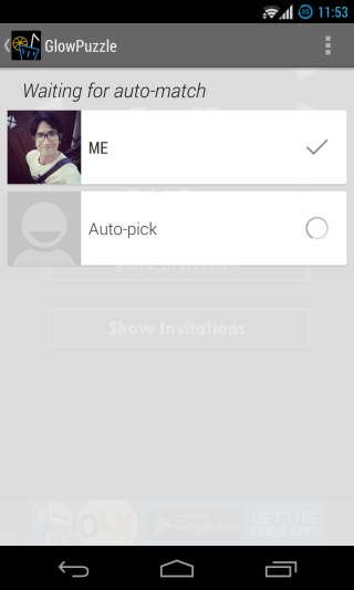 Google Play Games - Multiplayer - Auto-pick 1