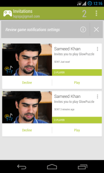 Google Play Games - Multiplayer - Invitations