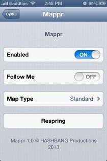 Mappr iOS Settings