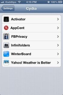PreferenceOrganizer iOS Cydia Group