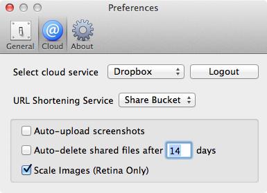 Share Bucket cloud