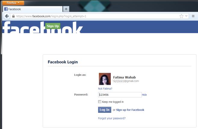 Show-hide passwords facebook