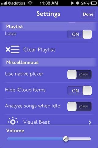 Splyce iOS Settings