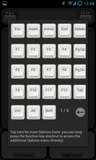 myControl funtion keys