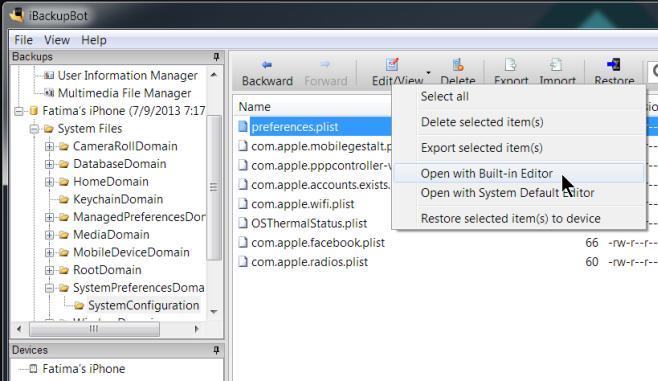 open plist file