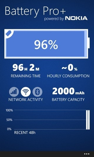 Battery Pro  WP8 Screen