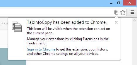 Chrome Web Store - TabInfoCopy