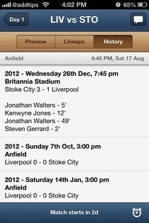 EPL Live iOS History