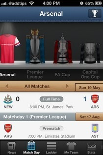 EPL Live iOS Match Day