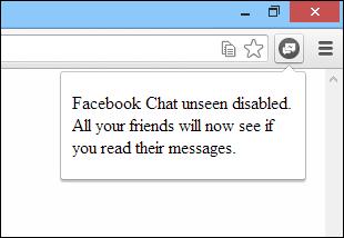 Facebook Unseen Disabled