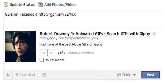 GIFs on Facebook 2