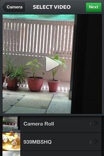 Instagram Video Camera Roll