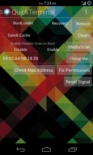 QuickTerminal for Android - Quick Toggles