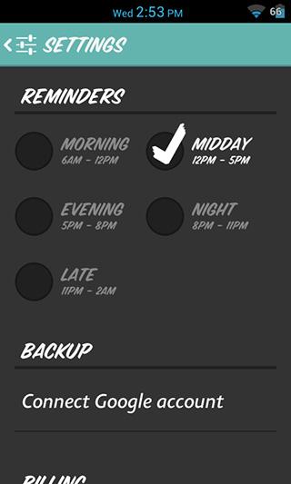 Settings-Reminders-Google-Drive-Bakcup