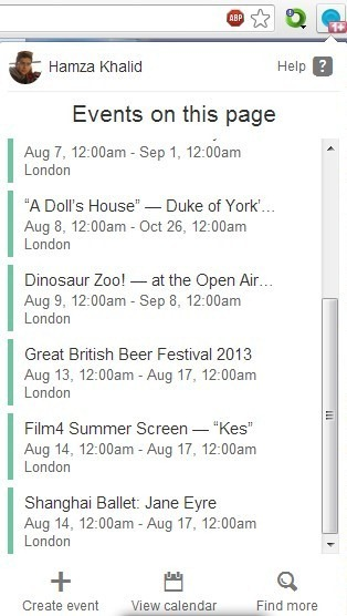 Spot Chrome Events On Page