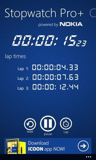 Stopwatch Pro  WP8