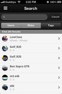 TagMyRide iOS Search