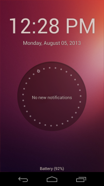 Ubuntu Touch Lockscreen 1